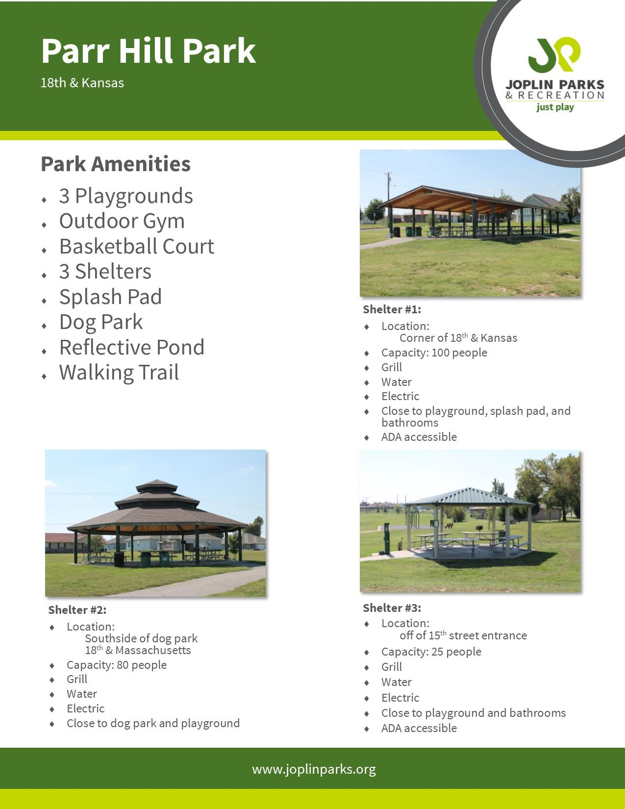 Parr Hill Park Fact Sheet