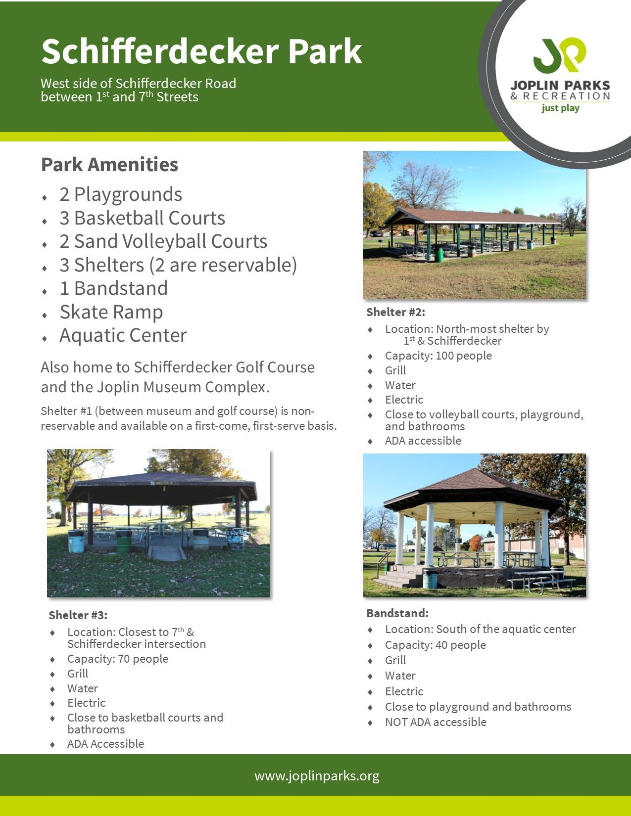 Schifferdecker Park Fact Sheet