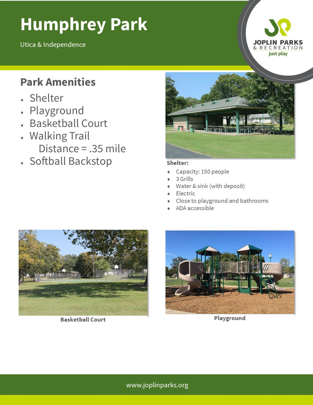 Humphrey Park Info Sheet