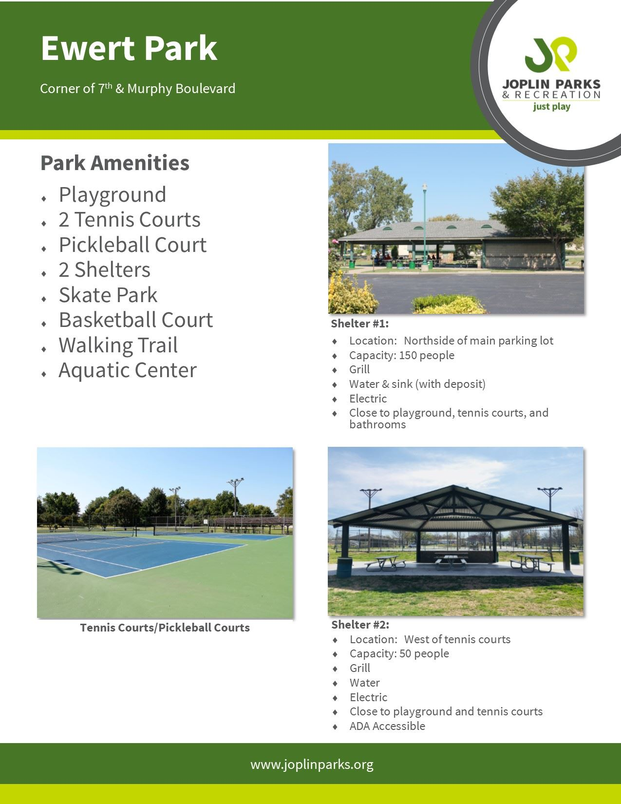 Ewert Park Fact Sheet
