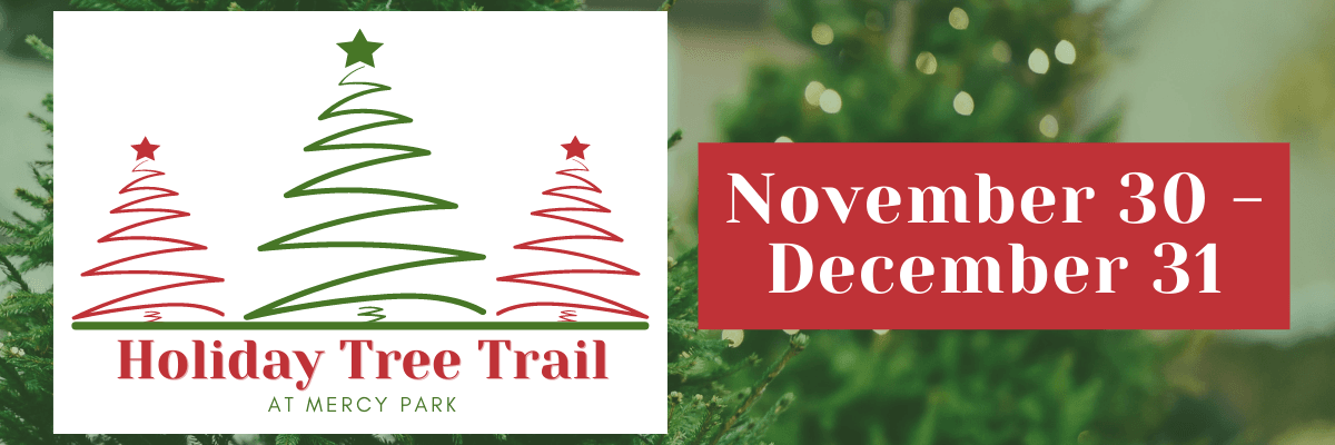 Holiday Tree Trail image of logo and November 24 - January 1
