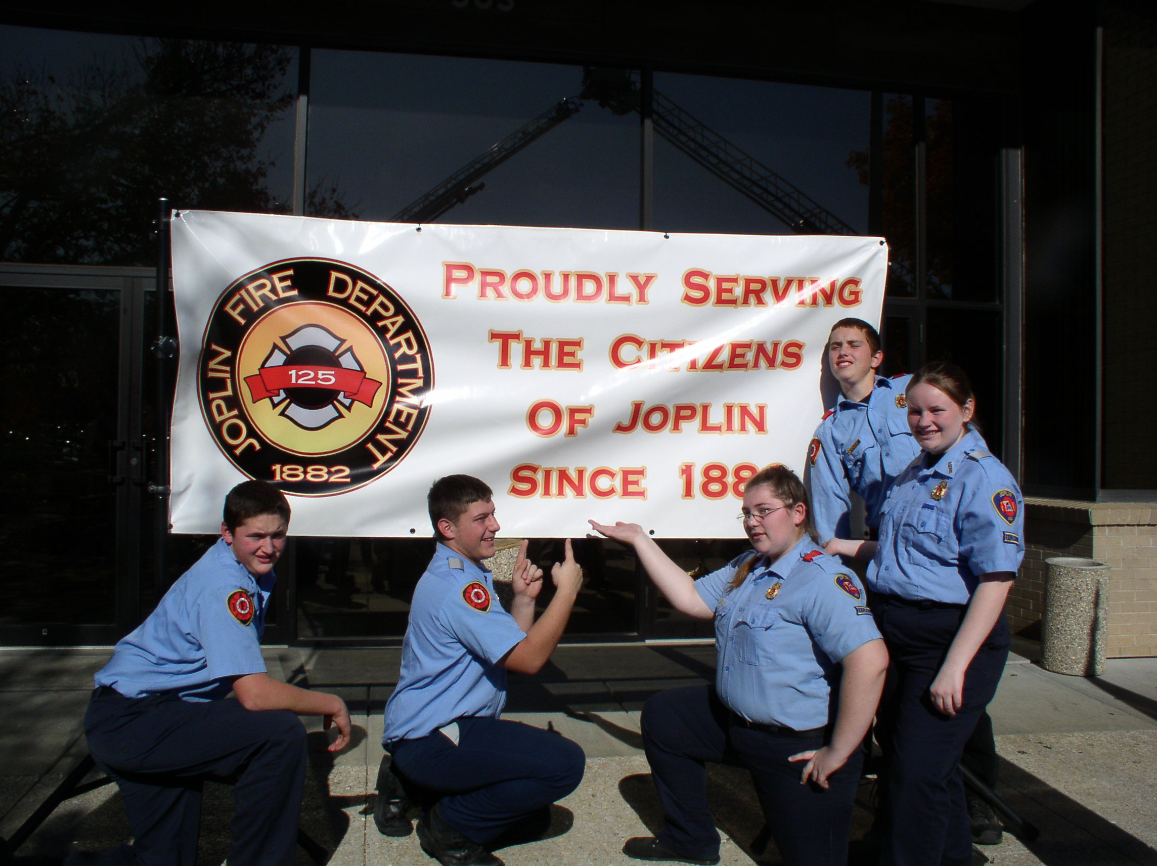 Joplin Fire Explorers with Wall Banner