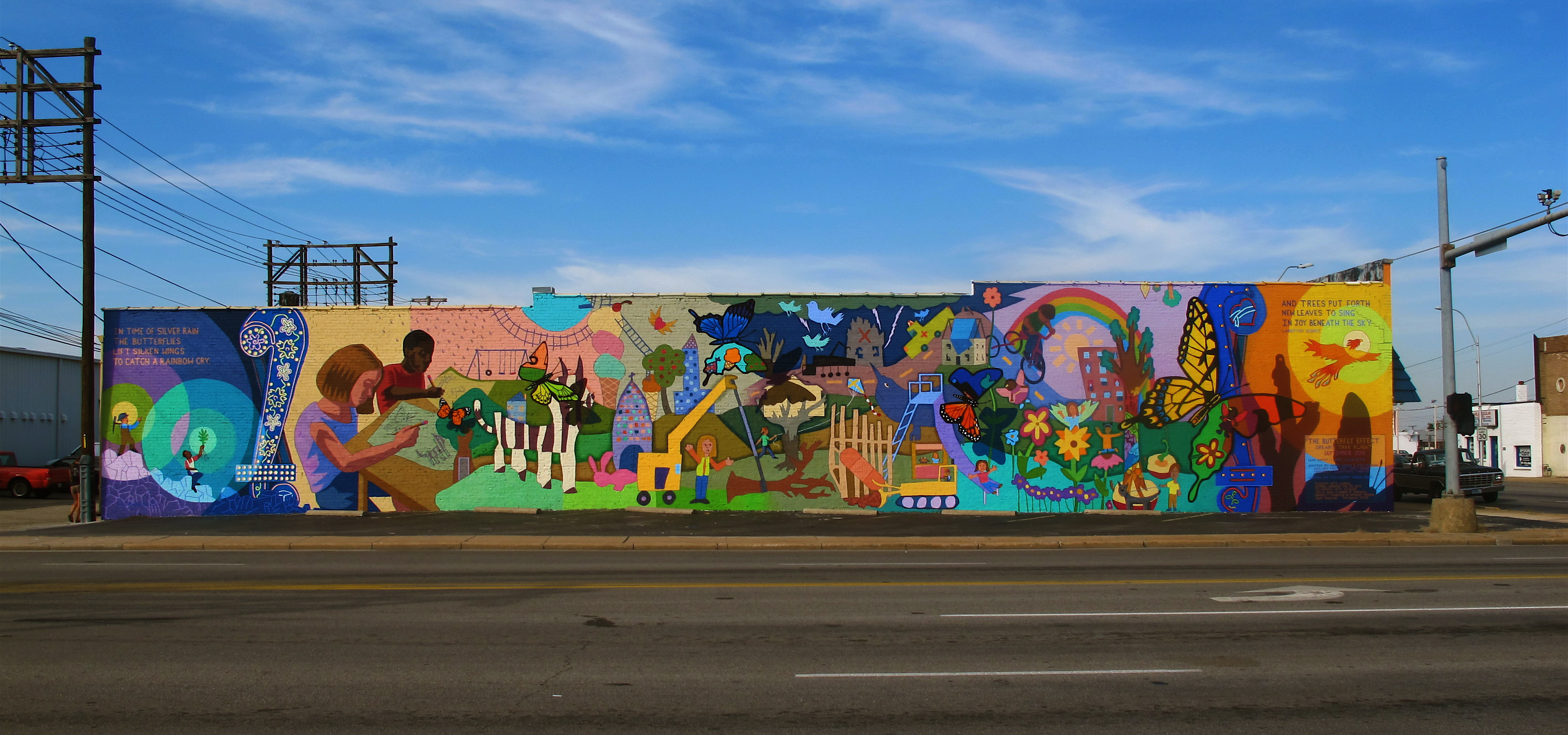 Public art joplin mo official website for Butterfly mural ideas