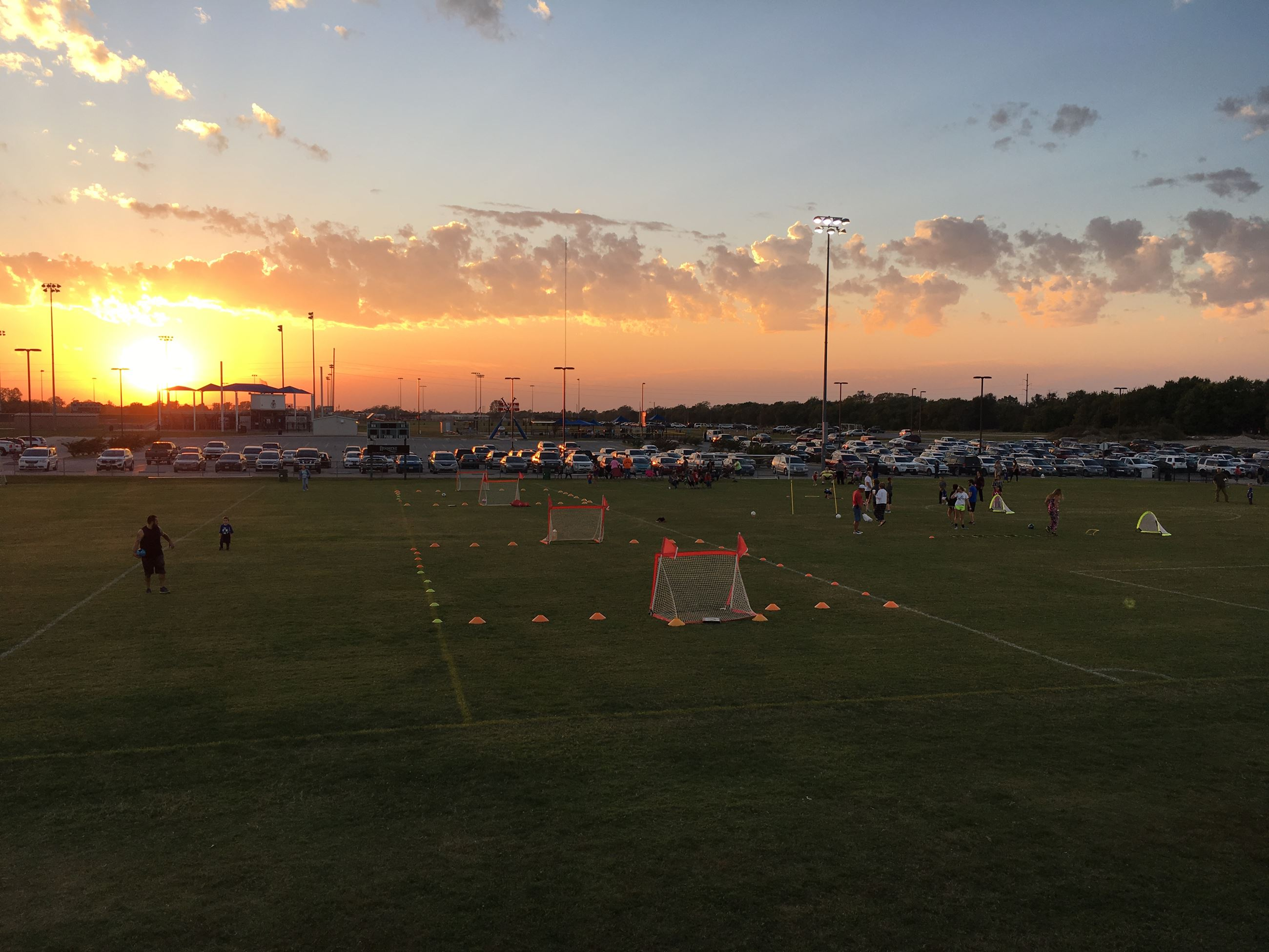 Sundown over Athletic Complex Soccer Fields