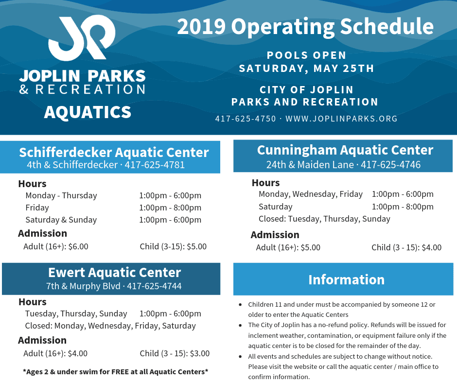 Pool Operating Hours 19