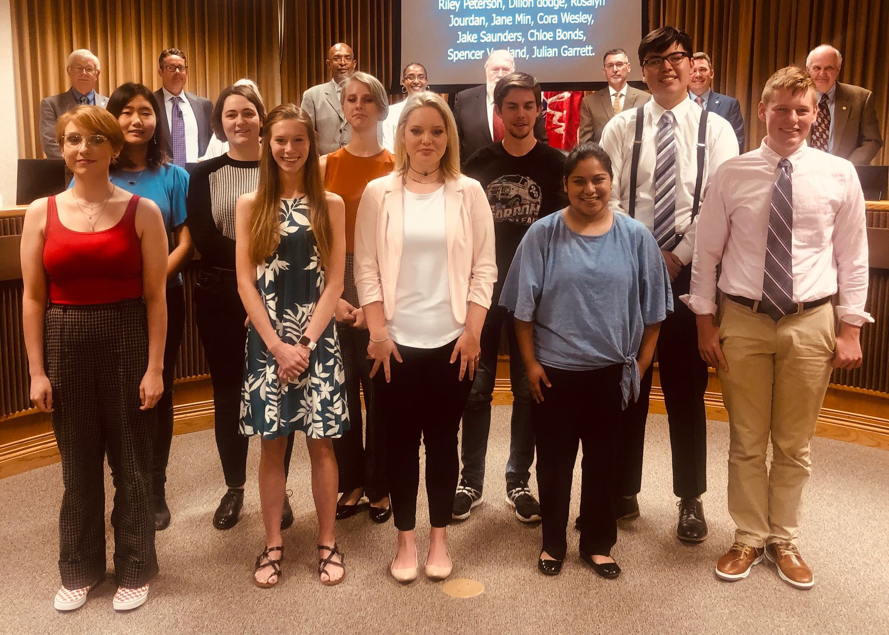Joplin Youth Council Members 2019-20: Front row, from left: Casey Bonds, Riley Peterson, Kambrea Man