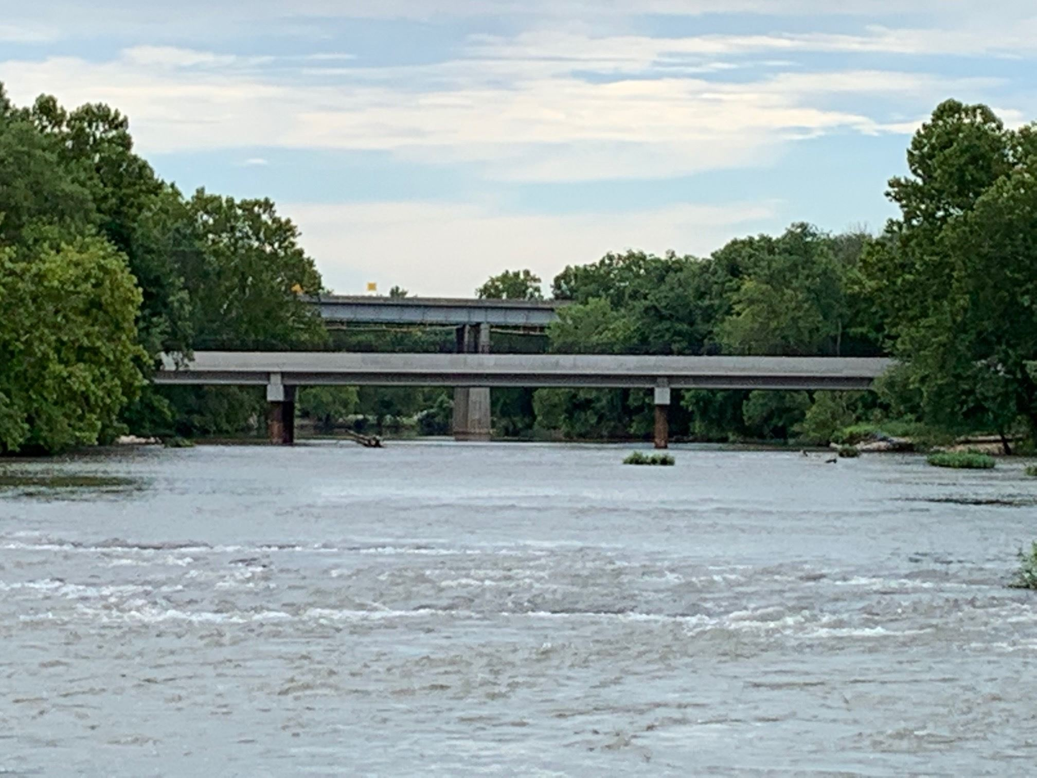 Jackson Ave bridge from Shoal Creek view